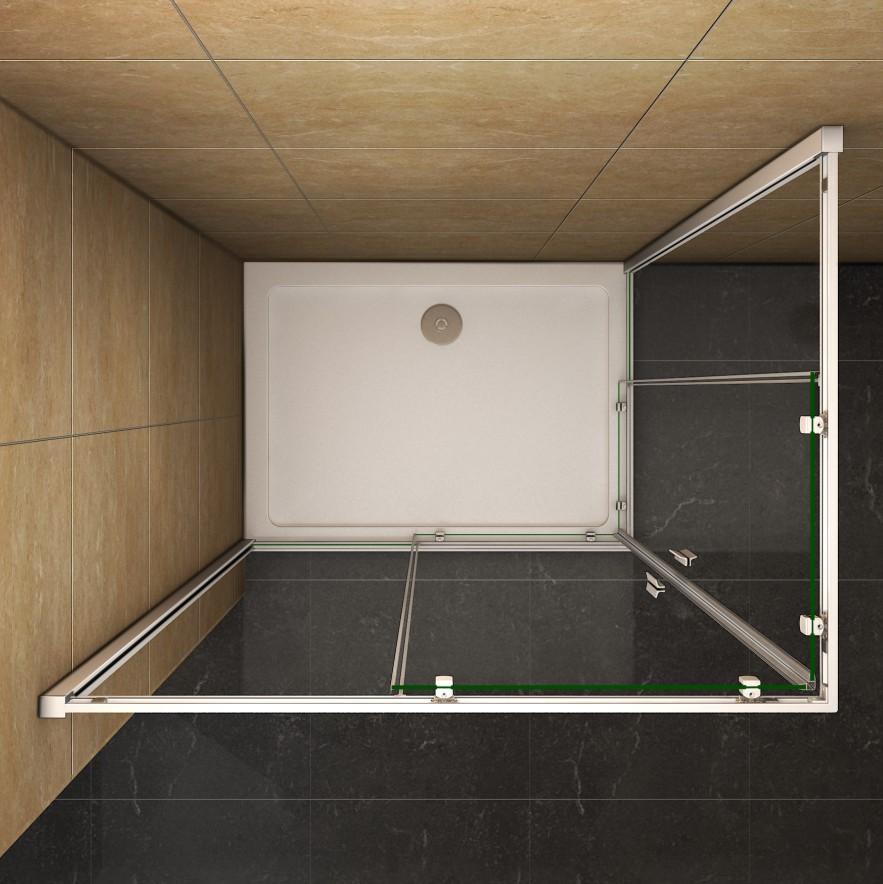 Aica Corner Entry Quadrant Shower Enclosure Tray Cubicle