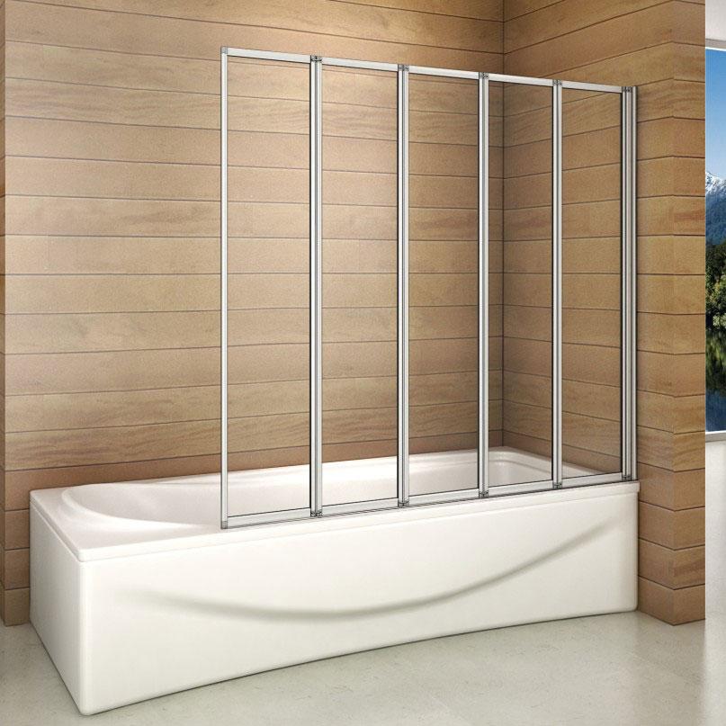 120x140 badewannenfaltwand badewannenaufsatz duschwand faltwand glas badewanne ebay. Black Bedroom Furniture Sets. Home Design Ideas