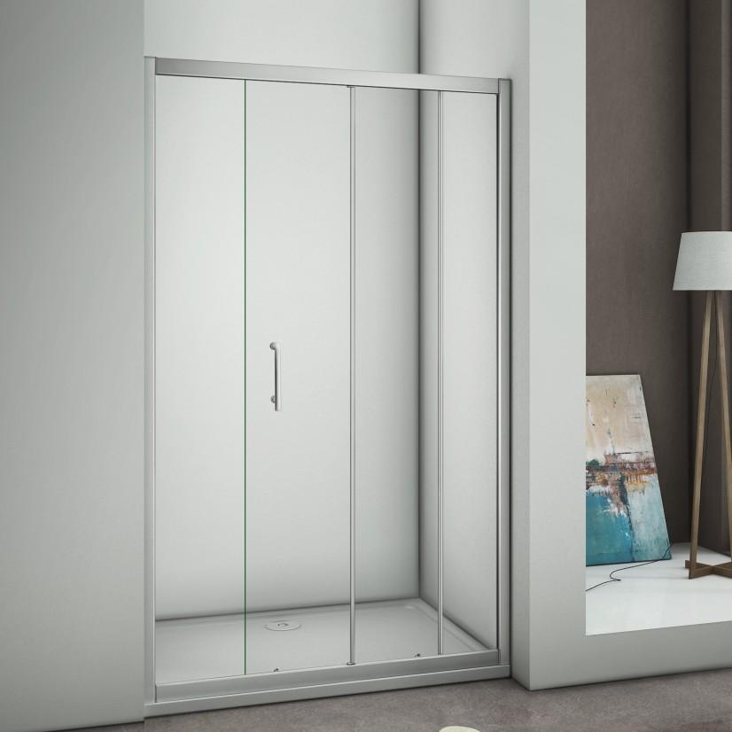 duschkabine schiebet r duschabtrennung nischent r echtglas glas dusche duschwand ebay. Black Bedroom Furniture Sets. Home Design Ideas