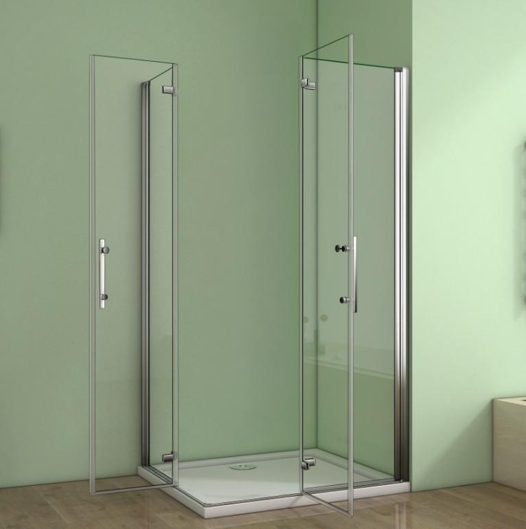 aica duschkabine duschabtrennung faltt r eckeinstieg nano glas duschwand dusche ebay. Black Bedroom Furniture Sets. Home Design Ideas