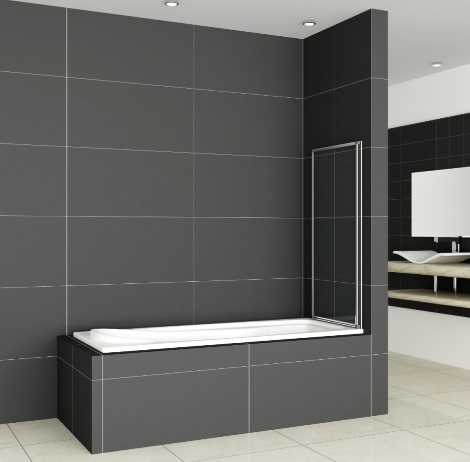 1/2/3/4/5 Fold Pivot Folding Bath Shower Screen 1400 Glass
