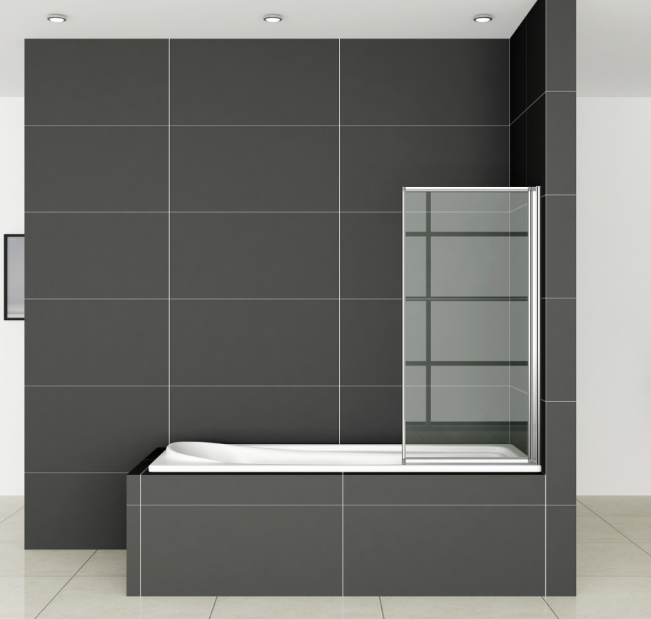 Folding Chrome Bath Shower Screen Bathroom Glass Door Panel Bath ...