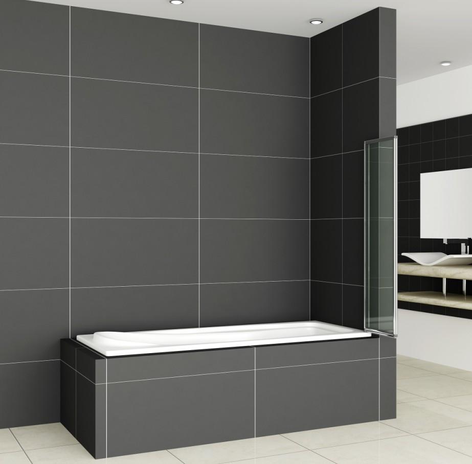 Aica 1/2/3/4/5 Fold Folding Bath Shower Screen 1400 Glass Over Door ...