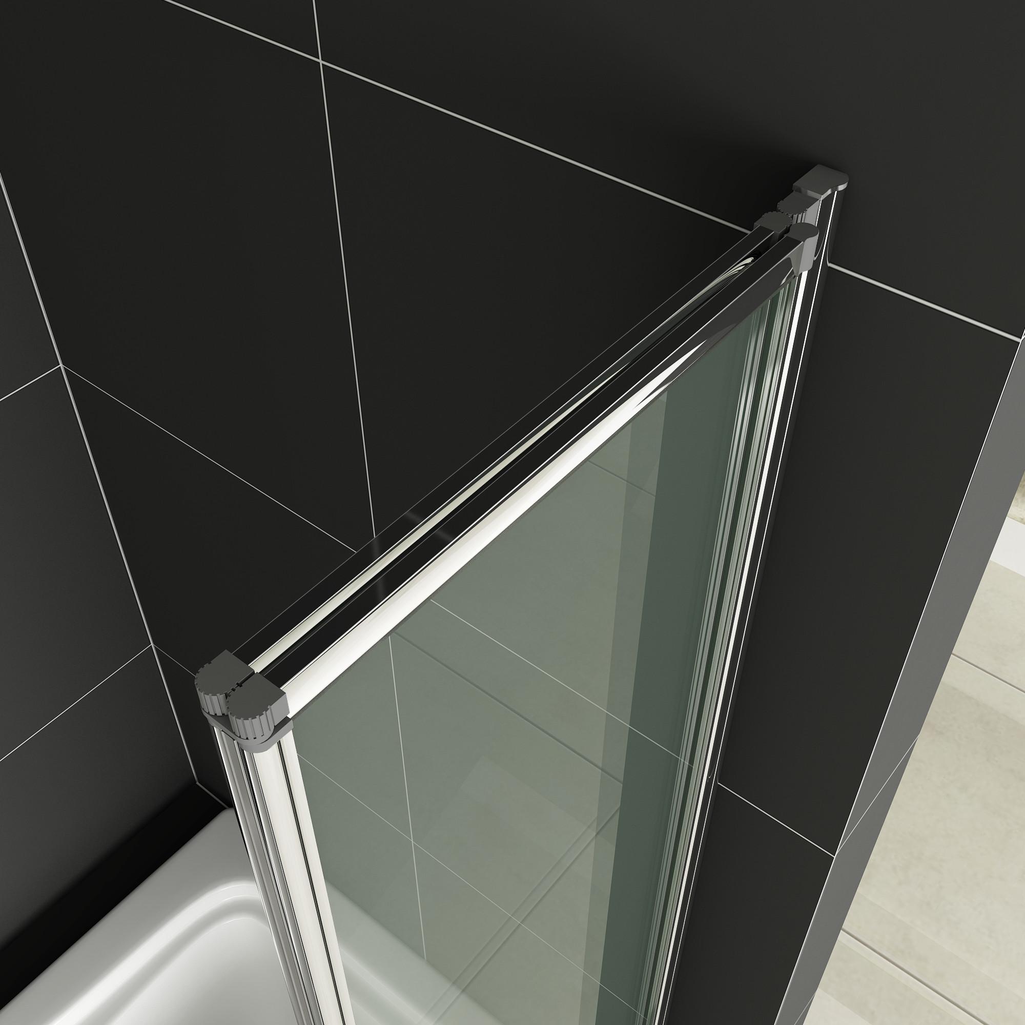 Aica 1/2/3/4/5 Fold Folding Bath Shower Screen 1400 Glass