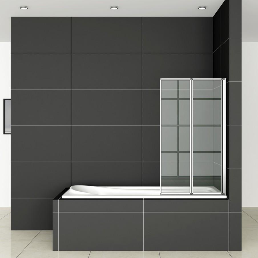 Bathroom 180°Pivot Hinge Folding Bath Shower Screen Over