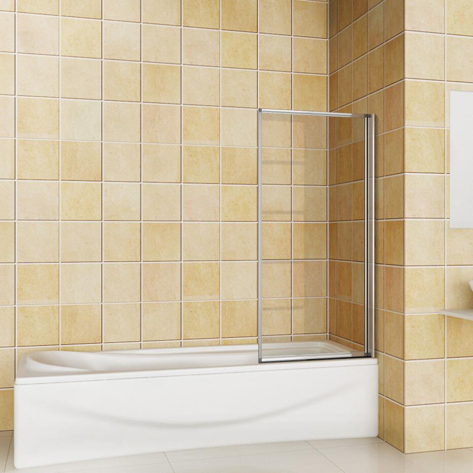 1 2 4 5 Fold Pivot Folding Bath Shower Screen 1400 Glass