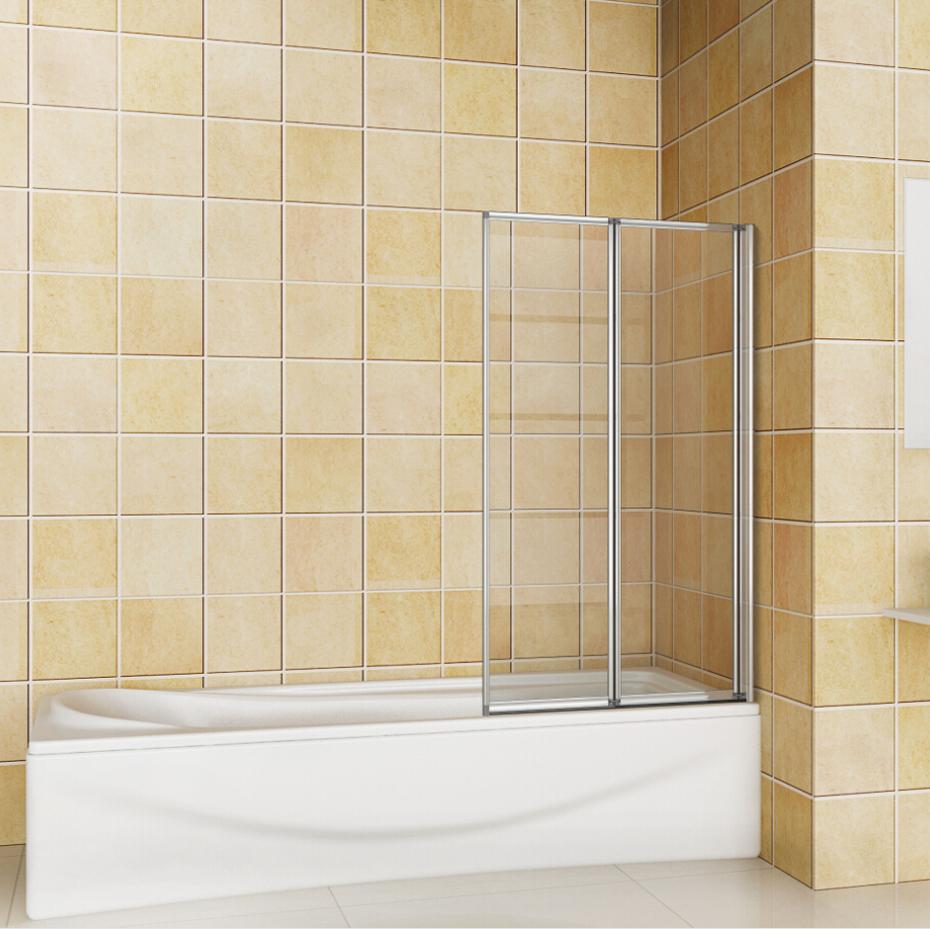 800x1400 2 Folding Chrome Shower Bath Screen Glass Door Panel Great