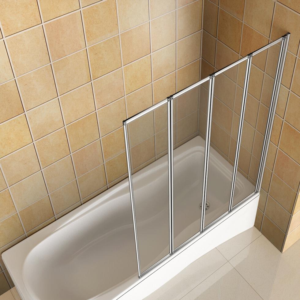 1/2/4/5 Fold Pivot Folding Bath Shower Screen 1400 Glass