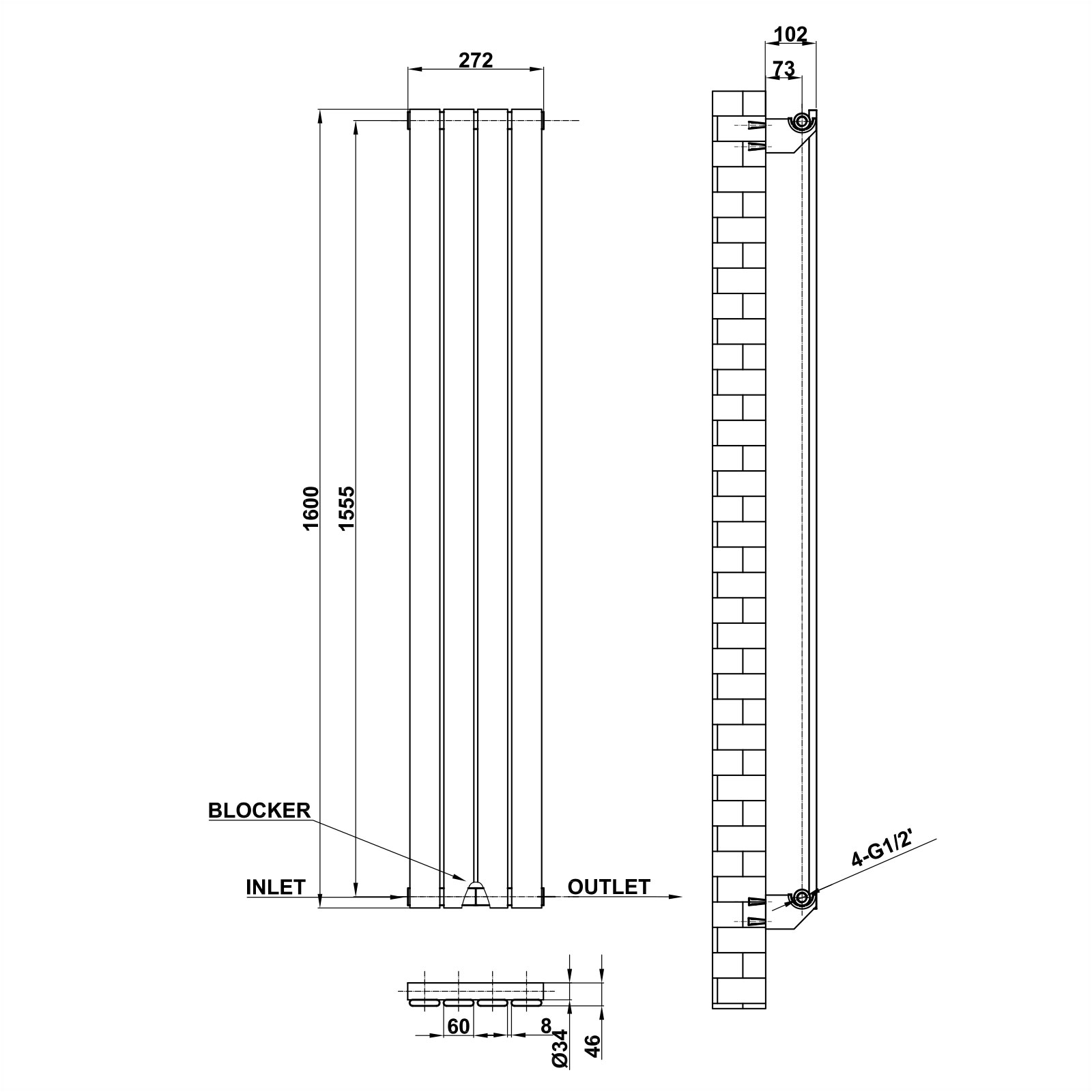 Aica Designer Heating Radiator