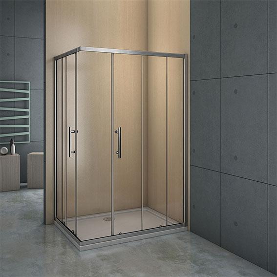 neu duschkabine eckeinstieg duschabtrennung schiebet r esg echtglas glas dusche ebay. Black Bedroom Furniture Sets. Home Design Ideas