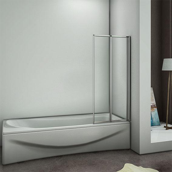 900x1400mm 2 Fold Chrome Bathroom Pivot Folding Shower