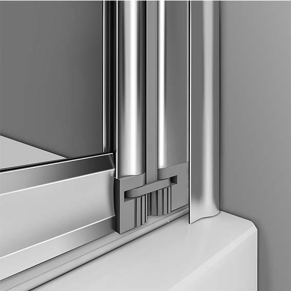 Aica 4 5 Fold Over Bath Folding Shower Screen 4mm Glass Reversible Door Panel Ebay