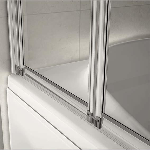 Aica 1200x1400mm 5 Fold Folding Bath Shower Screen Door Panel F12