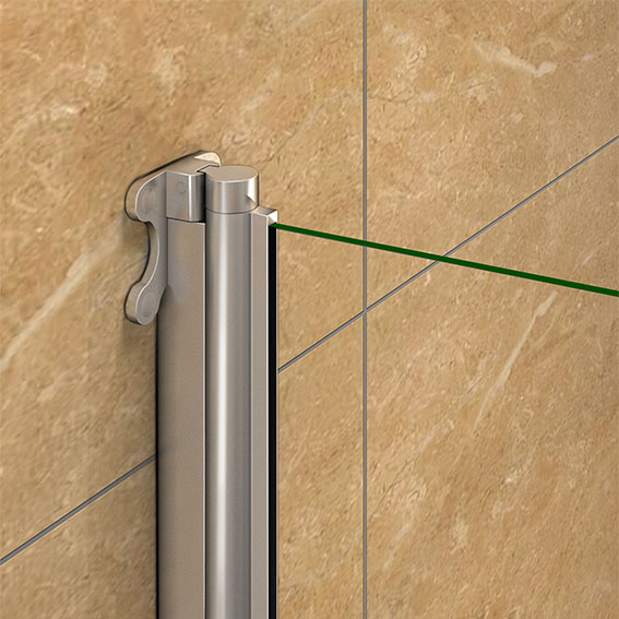 Aica Pivot Hinge Folding Screen Over Bath Shower Door