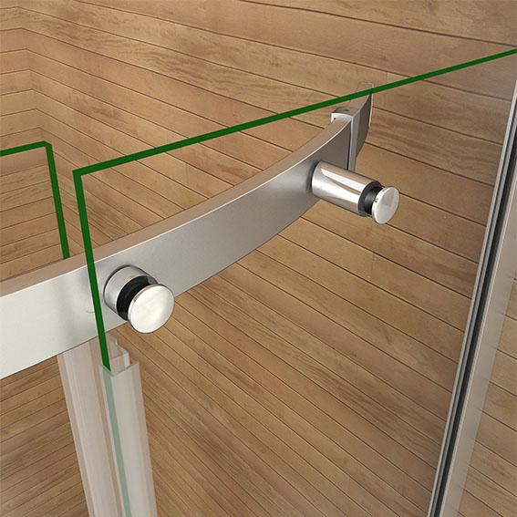 900x900mm Luxury Frameless Quadrant Shower Enclosure