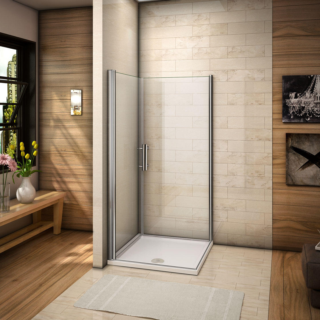 duschkabine duschabtrennung eckeinstieg 180 2xschwingt r dreht r 6mm nano glas ebay. Black Bedroom Furniture Sets. Home Design Ideas