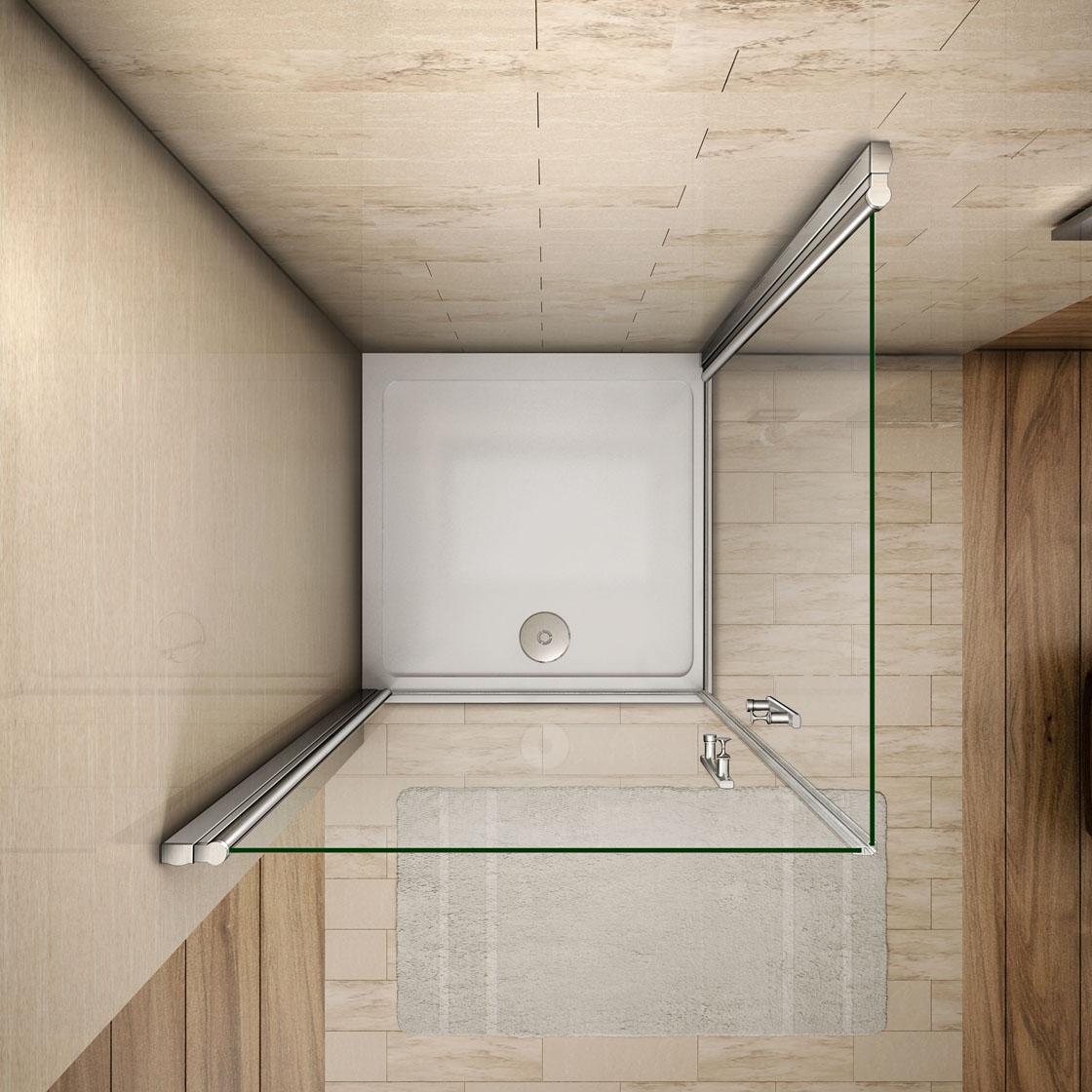 duschkabine duschabtrennung eckeinstieg 180 2xschwingt r. Black Bedroom Furniture Sets. Home Design Ideas