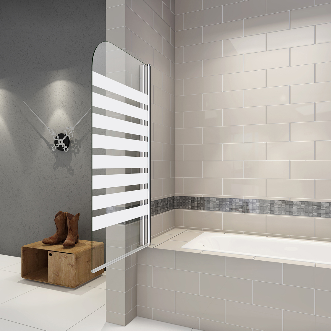 80x140cmbadewannen faltwand duschwand duschabtrennungnano. Black Bedroom Furniture Sets. Home Design Ideas