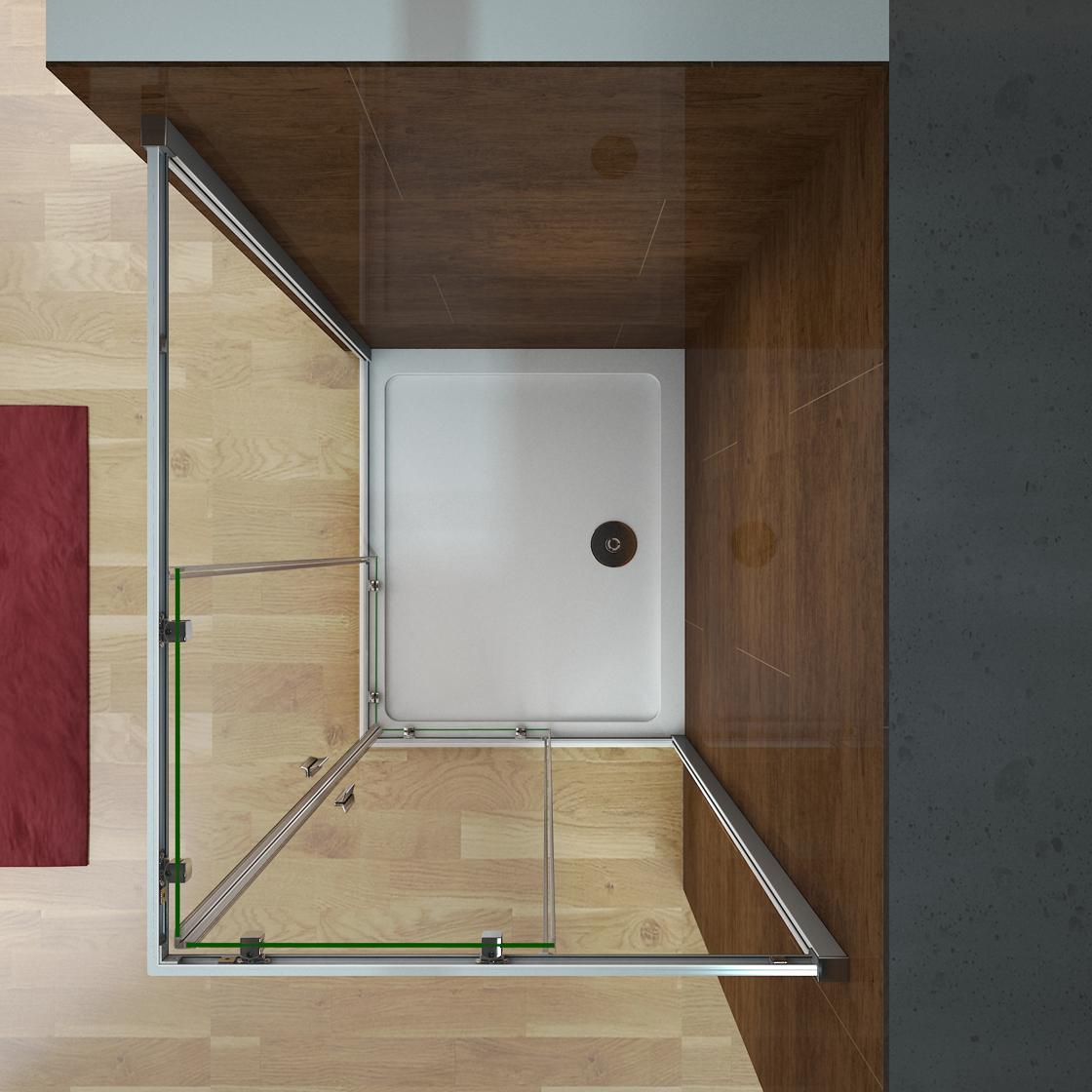 duschabtrennung duschkabine schiebet r eckeinstieg echtglas dusche duschtasse cr ebay. Black Bedroom Furniture Sets. Home Design Ideas