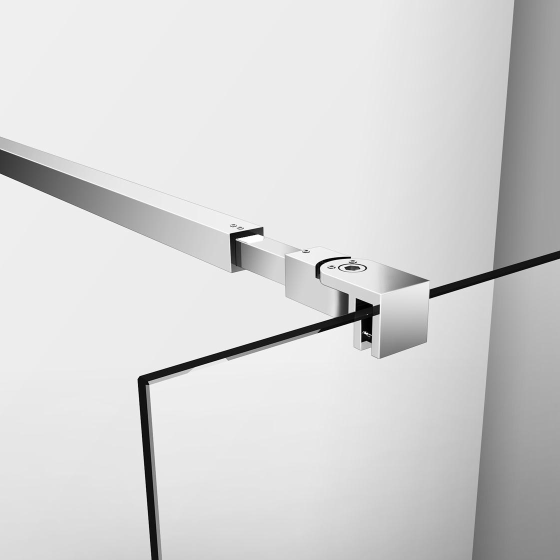 800x1950mm Wet Room Walk In Shower Enclosure Glass Screen