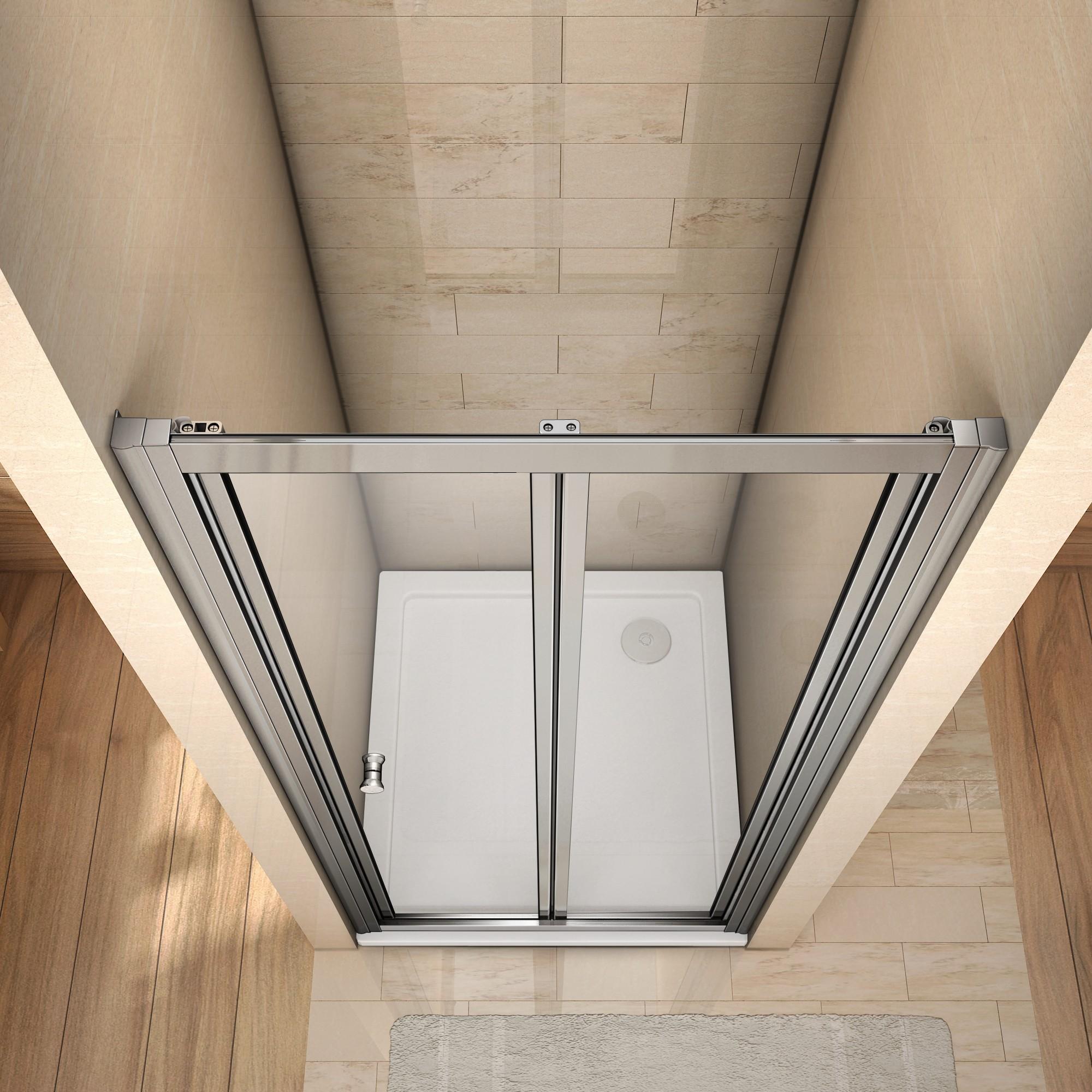 80x185cm duschabtrennung duschwand walk in dusche klapptür ... - Dusche Klapptur