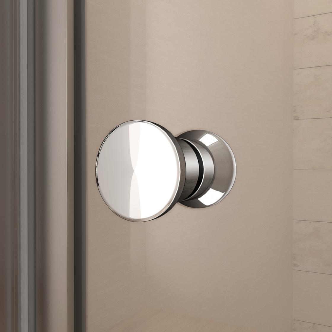 100x185cm duschabtrennung duschwand walk in dusche klapptür ... - Dusche Klapptur