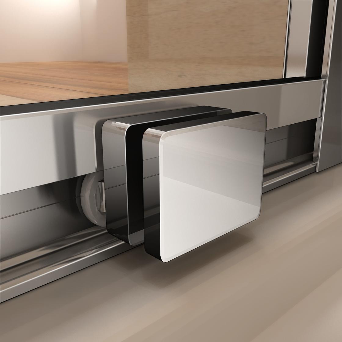Mamparas de ducha 6mm cristal templado puerta corredera de - Quitar cristal templado ...