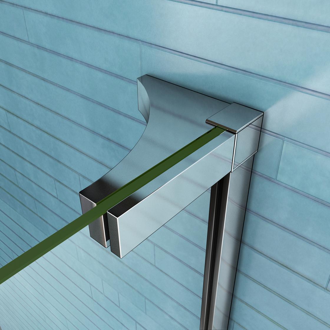 P1 185cm duschabtrennung duschkabine 8mm nano glas for Dusche ohne tasse