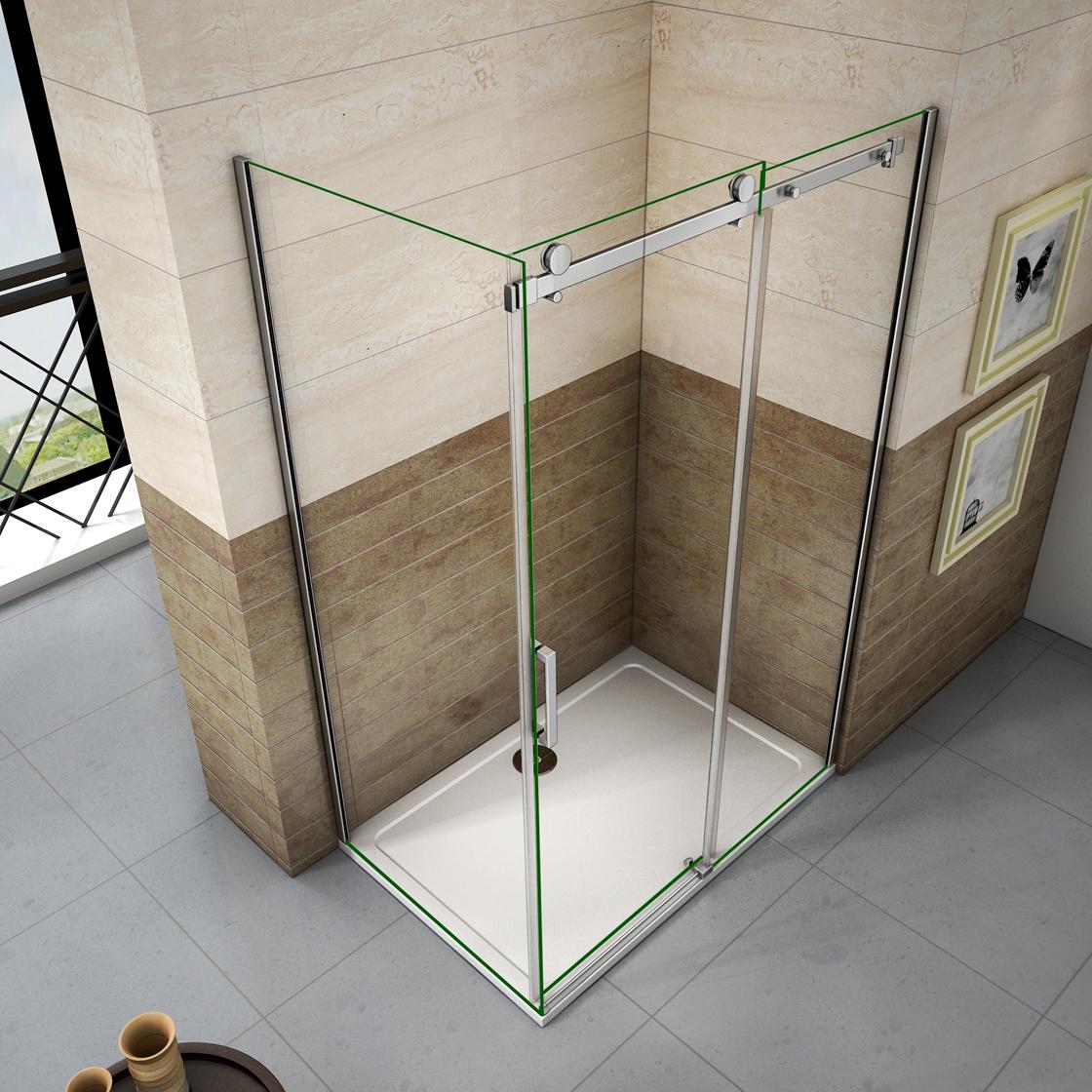 Luxury Glass Door : Luxury frameless sliding shower door enclosure easyclean