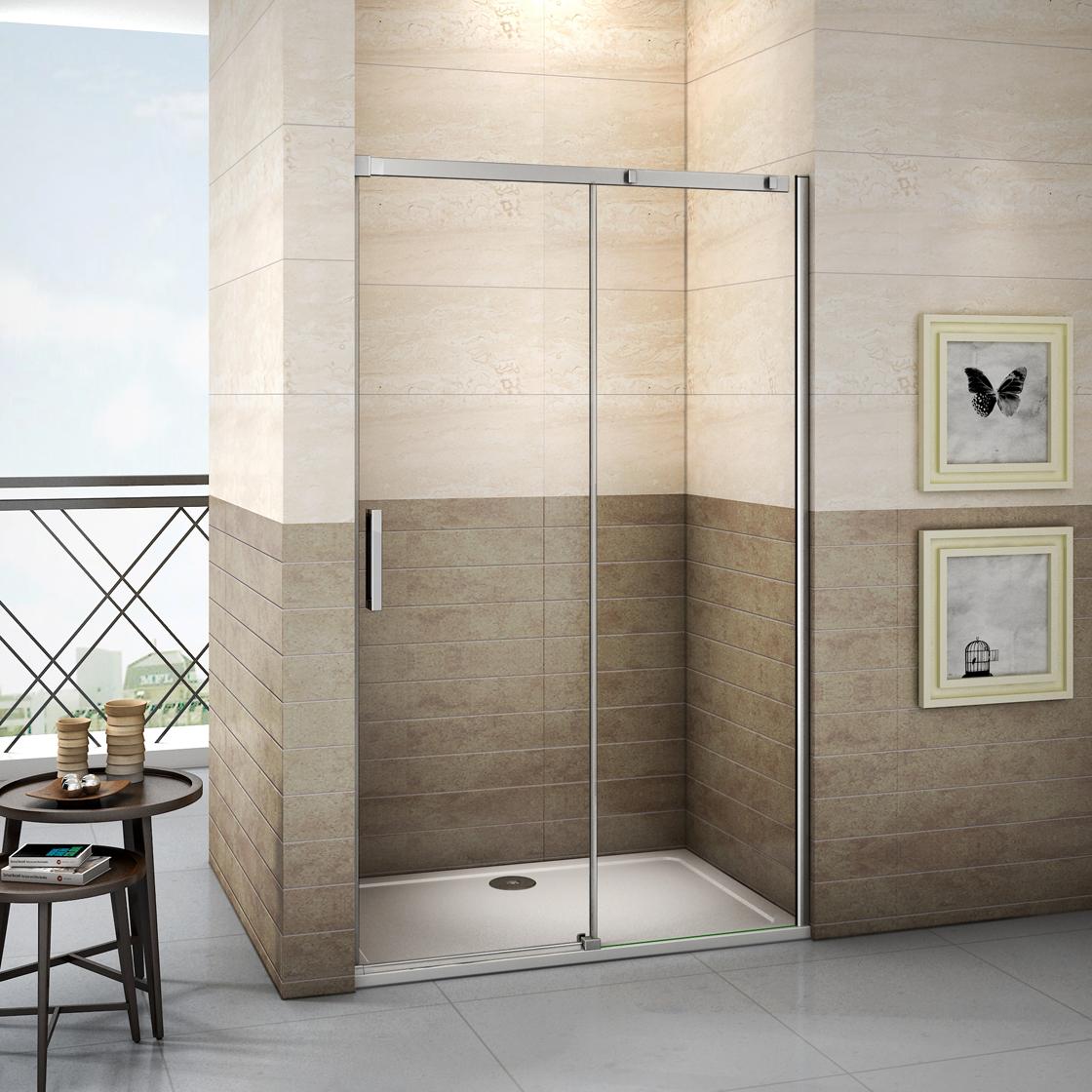 duschkabine 8mm nano glas duschabtrennung schiebet r walkin duschwand dusche 195 ebay. Black Bedroom Furniture Sets. Home Design Ideas