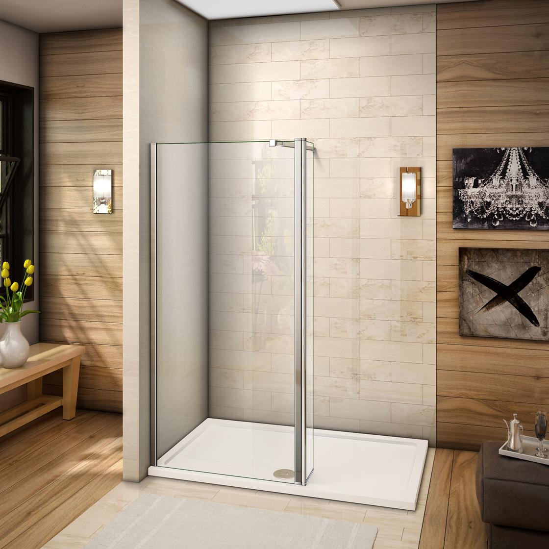 walk in duschabtrennung 8mm nano duschkabine duschwand dusche mit flipper panel ebay. Black Bedroom Furniture Sets. Home Design Ideas