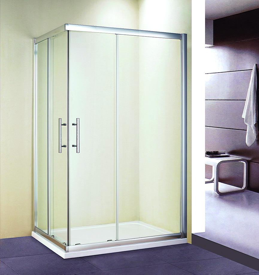 Corner Entry Double Sliding Shower Enclosure Glass Door