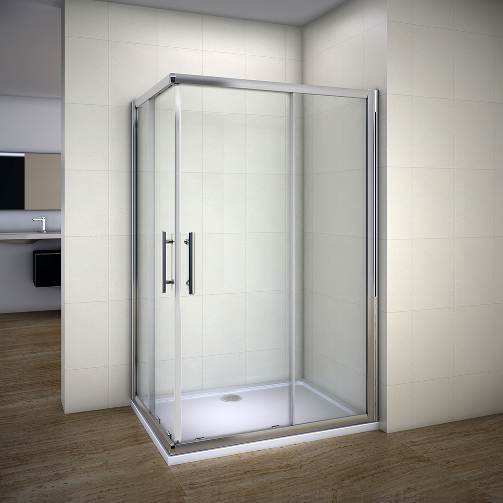 Aica 1400x900 Corner Entry Sliding Shower Enclosure Walk In Glass ...