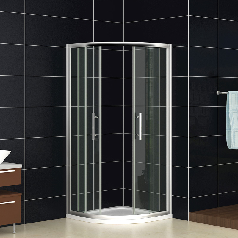 Quadrant Shower Enclosure Walk In Corner Cubicle Glass Screen Door ...