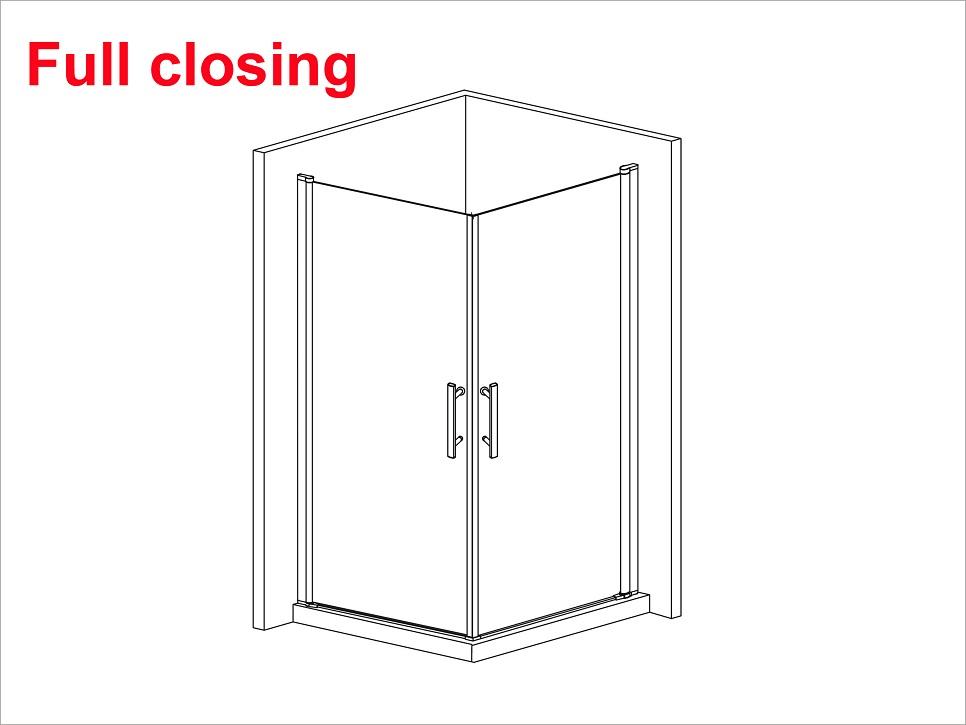 700x700mm walk in shower enclosure 180 pivot glass door for 180 degree swing door
