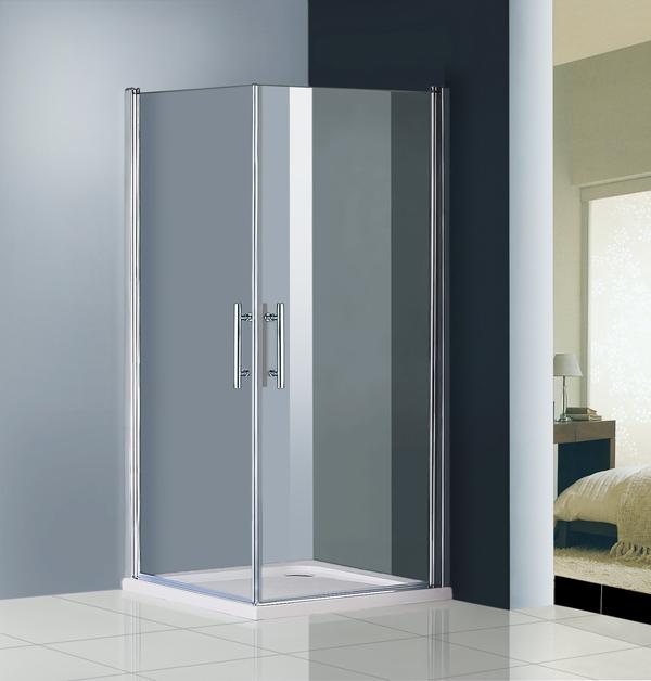 Shower enclosure 180 swing double door screen 800x1000mm for 180 degree swing door