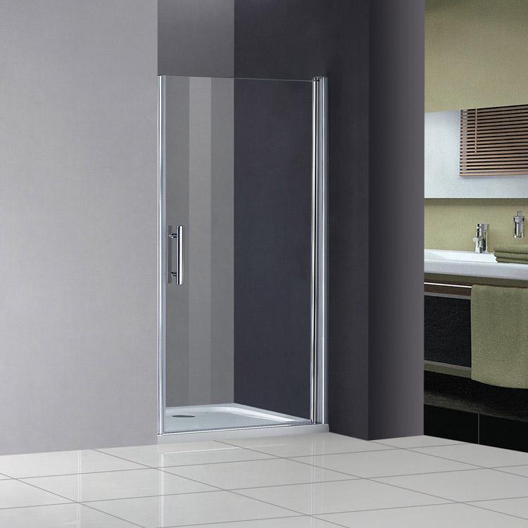 80x185cm nano glas duschabtrennung duschkabine duscht r dreht r duschtasse ebay. Black Bedroom Furniture Sets. Home Design Ideas