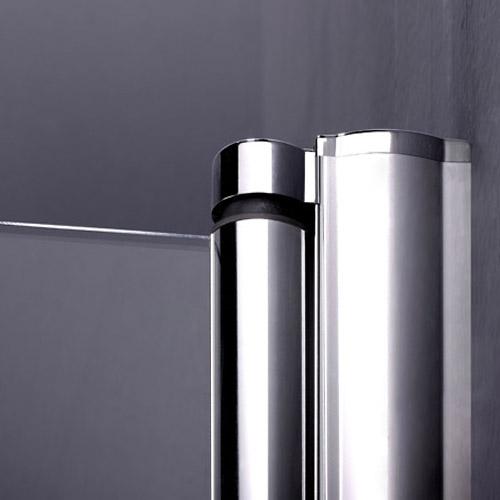 700x700mm Frameless Pivot Shower Enclosure Double Door