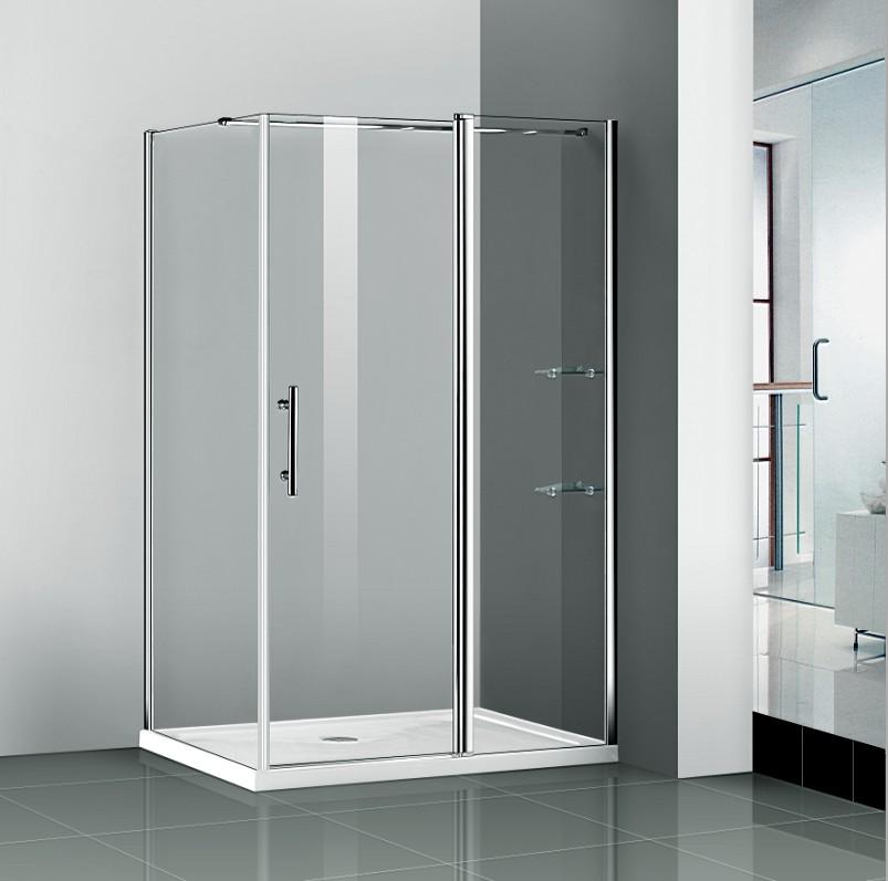 Pivot shower door enclosure glass screen walk in cubicle - Walk in shower glass doors ...