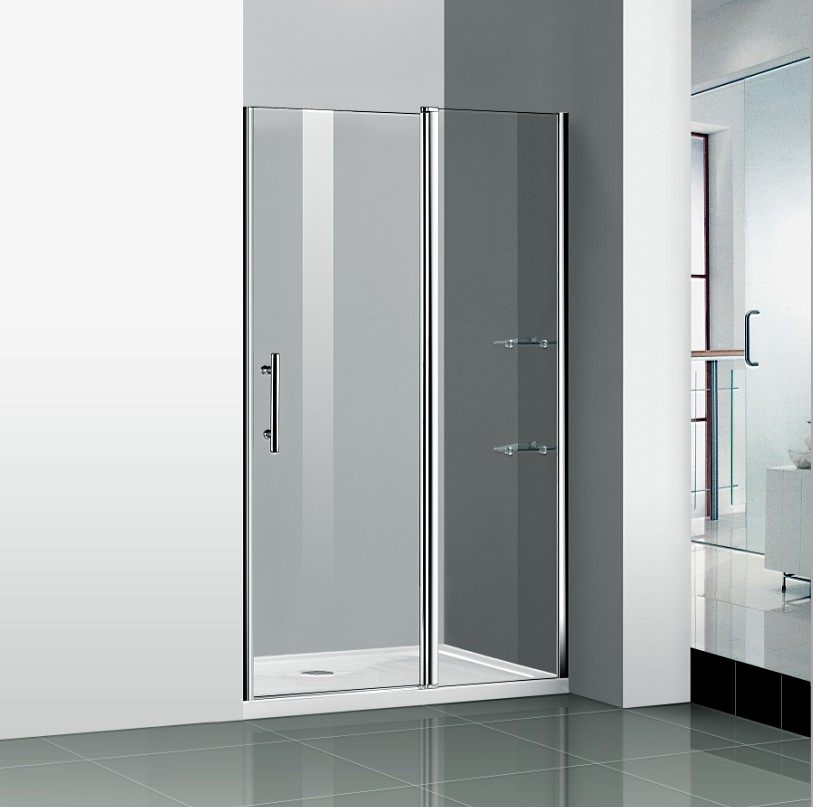 1200x1850mm Shower Enclosure Walk In Frameless Pivot Glass Cubicle
