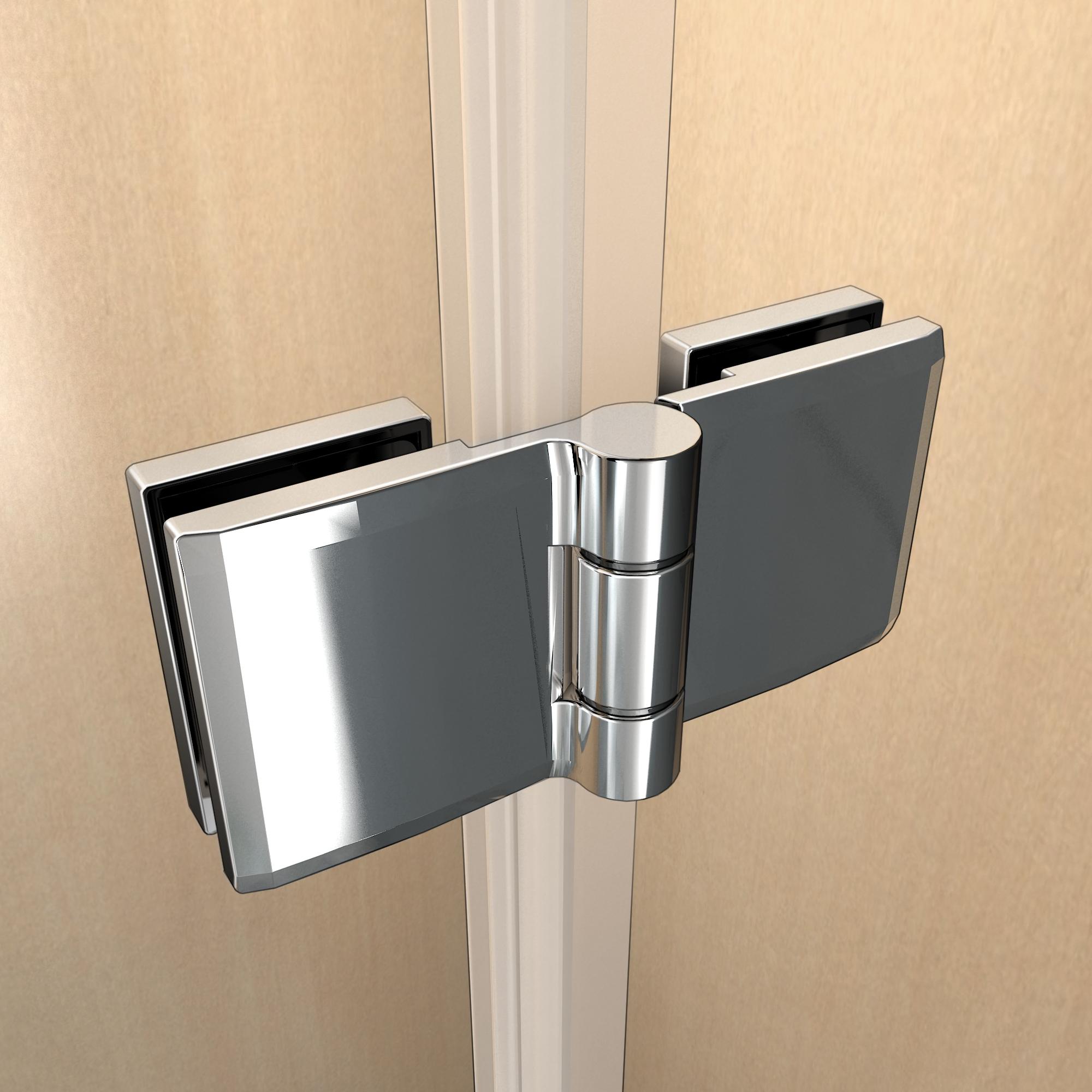 duschkabine duschabtrennung nano glas scharniert r duschwand dusche duschtasse ebay. Black Bedroom Furniture Sets. Home Design Ideas