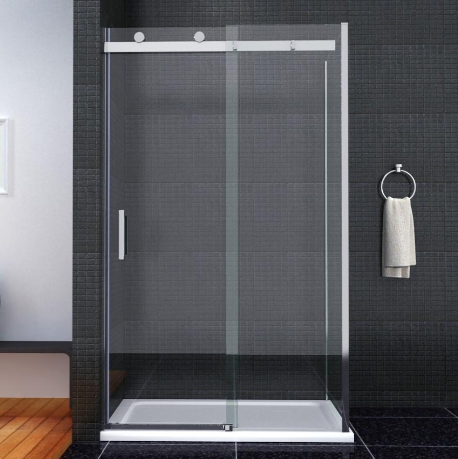 Luxury Frameless Sliding Shower Door Enclosure Easyclean