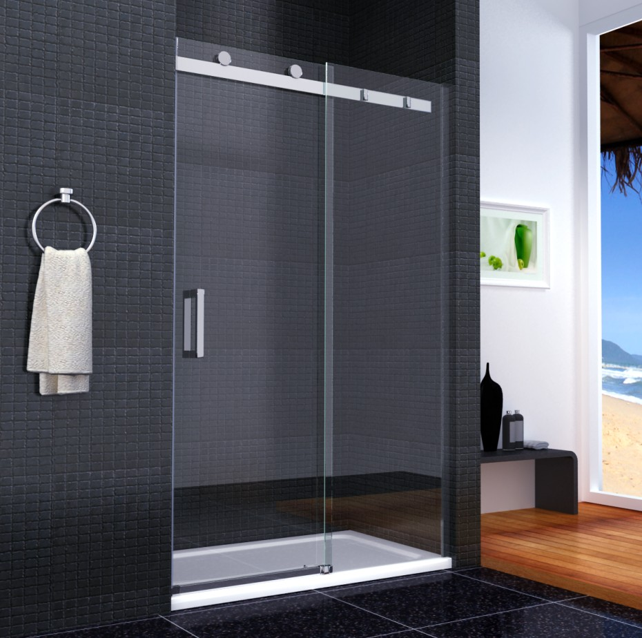 Luxury Frameless Sliding Shower Door Enclosure Easyclean Glass ...