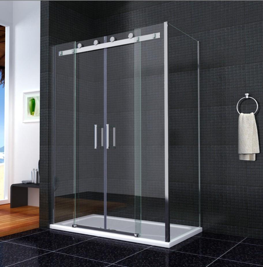 Luxury sliding shower door walk in enclosure easyclean for Door 4 montpellier walk