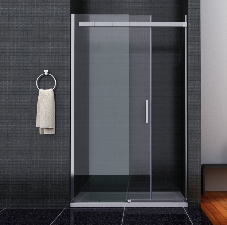 Shower Enclosure Walk In Sliding Glass Door Cubicle Screen Stone ...