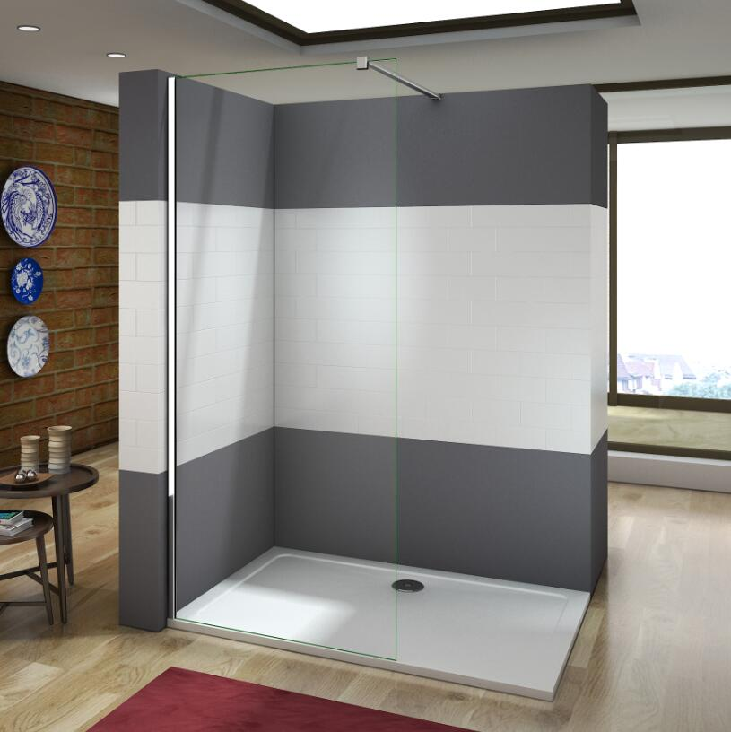 wft 120x200 cm walk in dusche duschabtrennung duschwand 10mm nanoglas glaswand ebay. Black Bedroom Furniture Sets. Home Design Ideas