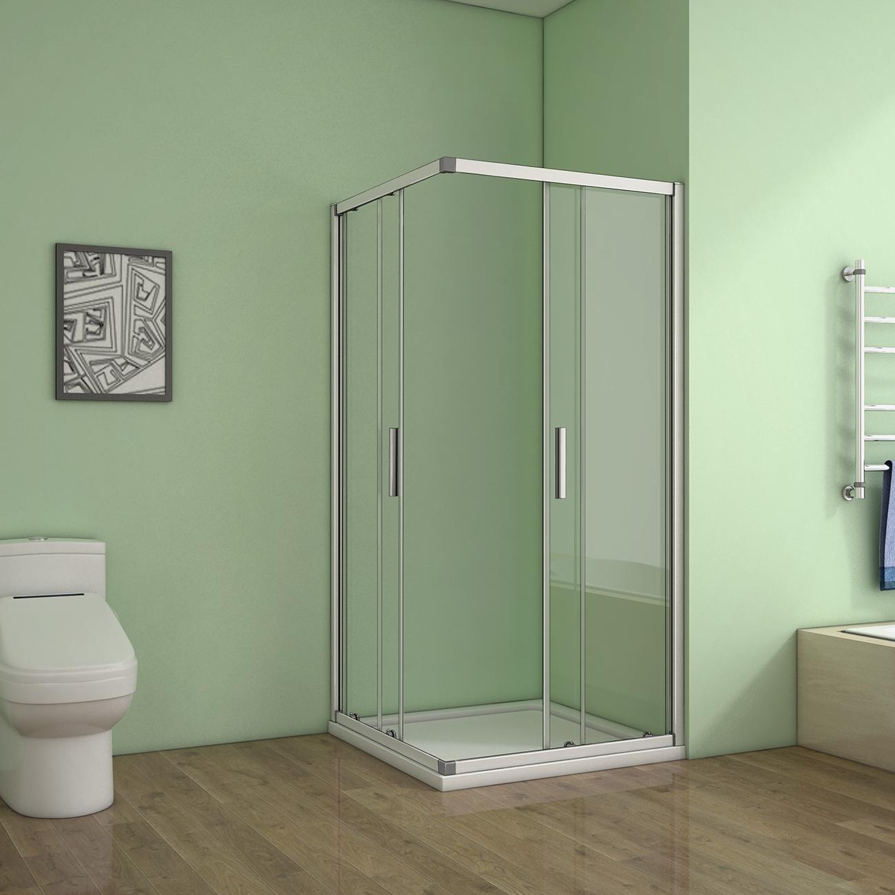 76x76cm eckeinstieg glas duschkabine schiebet r duschabtrennung dusche duschwand ebay. Black Bedroom Furniture Sets. Home Design Ideas