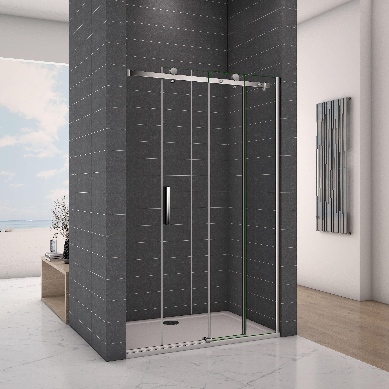 Frameless Sliding Shower Enclosure Glass Screen Door Panel