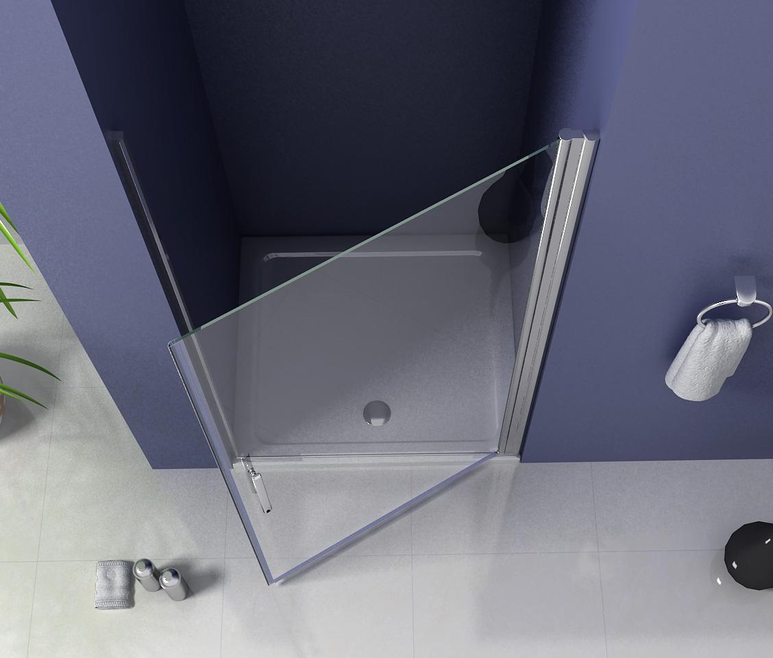 Frameless Pivot Hinge Shower Enclosure Glass Cubicle Door