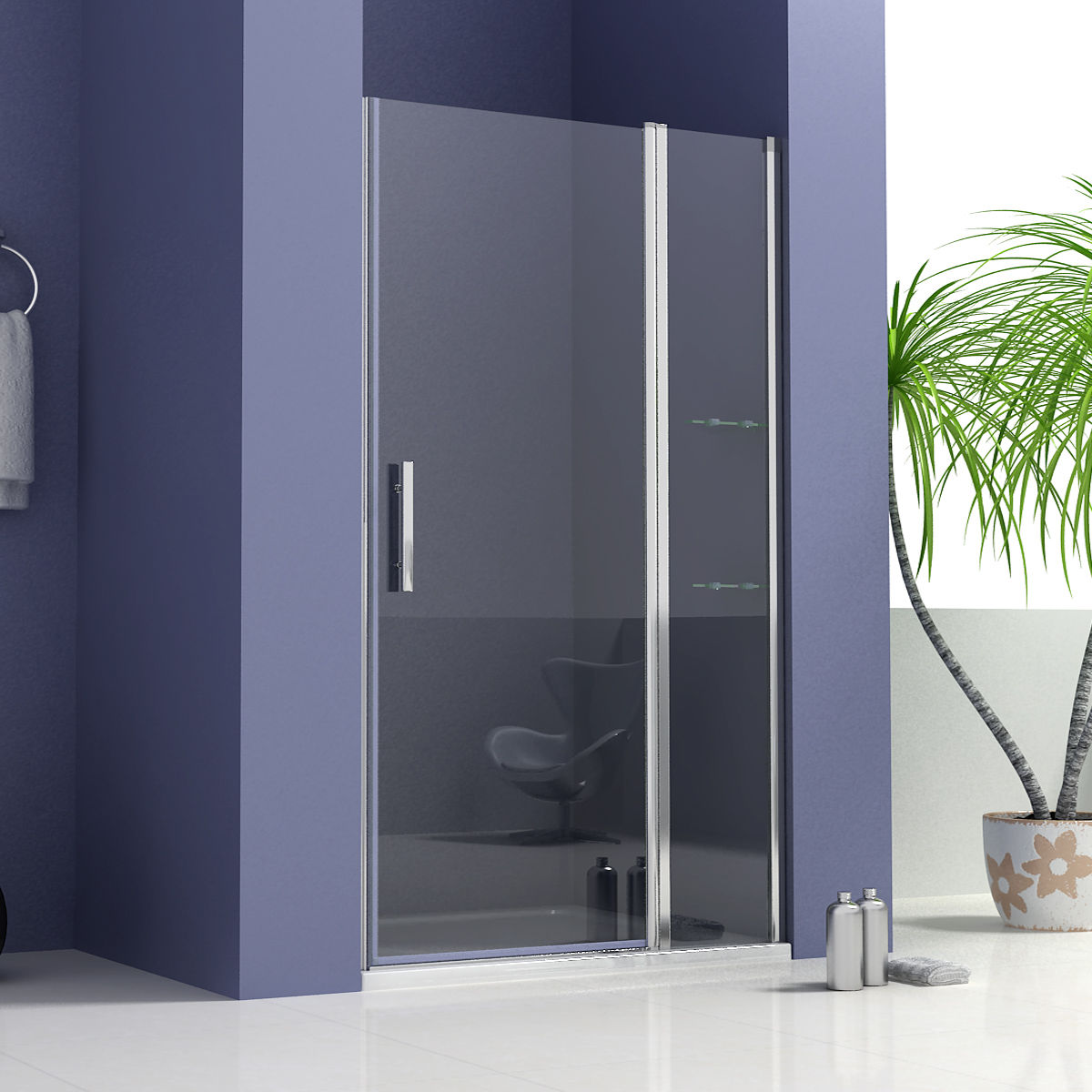 Details About Frameless Shower Enclosure Pivot Door Side Panel And Tray 700 1000 1200mm